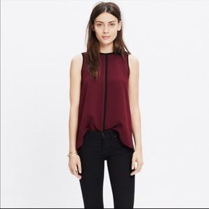 Madewell small blouse crepe canal tank top blouse